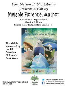 TD Canadian Children's Book Week: Author visit at RL Angus school Melanie Florence