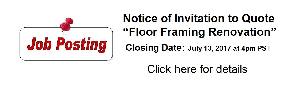 invitation to quote Floor Framing Renovation