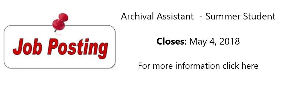 Archival Assistant_Summer_Slide