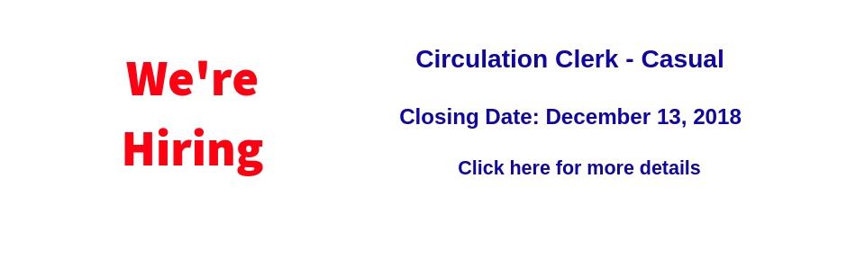 Circulation Clerk Job
