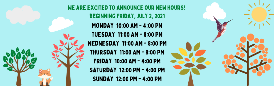 New Hours Banner July 2021